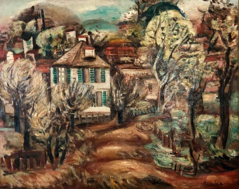 Alfred ABERDAM - Peinture - Landscape in South of France