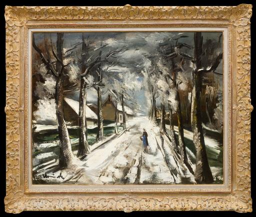 Maurice DE VLAMINCK - Pintura - La Route Sous la Neige