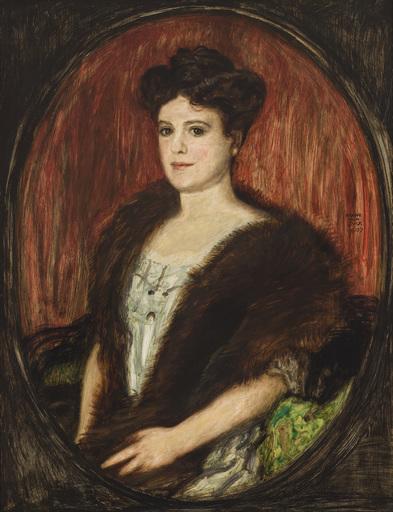 Franz VON STUCK - Pittura - Porträt einer Dame (Ehefrau des Paul Reinemann)