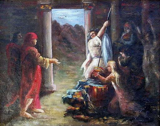 Ramon PARADA JUSTEL - Peinture - ESCENA BIBLICA