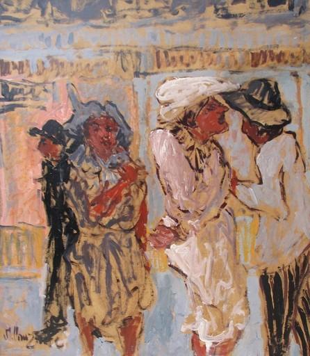 """Marc CLAUZADE - Painting - """"La belle en rose"""""""