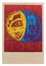 巴勃罗•毕加索 - 版画 - Vallauris Toros