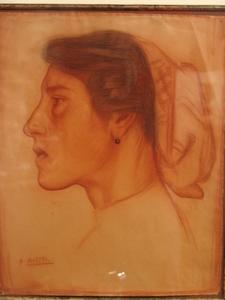 Aurelio ARTETA - Disegno Acquarello - Aldeana Vasca