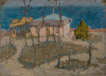 Vladimir Davidovic BARANOV-ROSSINÉ - Painting - A House on the Shore of the Black Sea