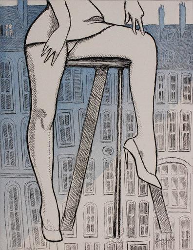 Dino BUZZATI - Estampe-Multiple - Le gambe di Saint Germain