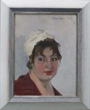 "Vladimir NOVAK - Painting - ""Portrait of a Girl"" by Vladimir Novak"