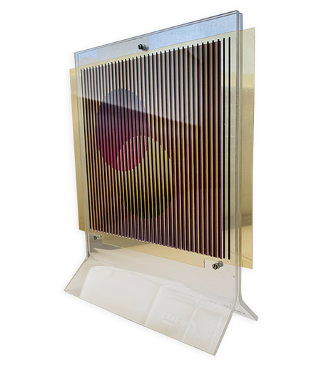 Carlos CRUZ-DIEZ - Sculpture-Volume - Chromointerference Manipulable