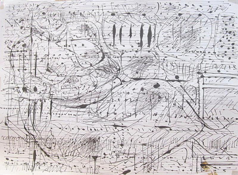 Karl KLUTH - Dibujo Acuarela - Die Alte in Saracinesco II.