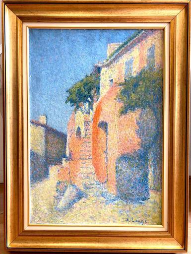 Achille LAUGÉ - Peinture - Maison à Collioure