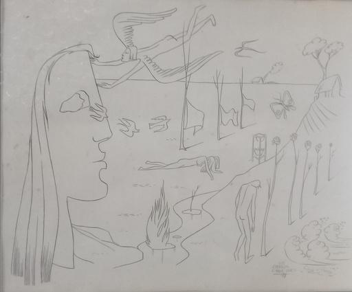 Carlos CRUZ-DIEZ - Zeichnung Aquarell - el vuelo de los anjeles