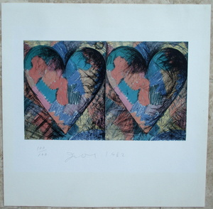 Jim DINE - Print-Multiple - Louisiana Hearts