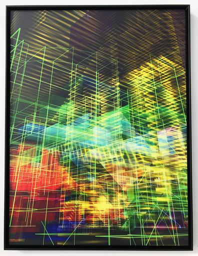 Miguel CHEVALIER - Sculpture-Volume - Meta - Cités Light Jaune/vert