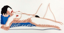 汤姆•韦瑟尔曼 - 雕塑 - Monica Lying on Her Back