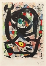 "Joan MIRO - Print-Multiple - Lithograph for the ""County Museum of Art"", Los Angeles"