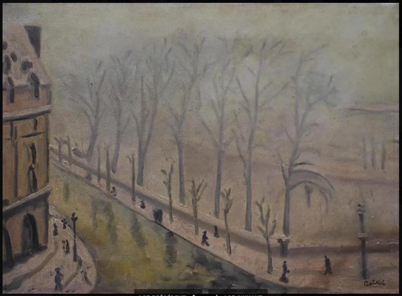 Louis Robert ANTRAL - Pintura - Paris: quai de Bourbon