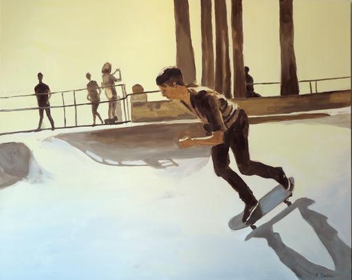 Karine BARTOLI - Painting - Skater Venice Beach
