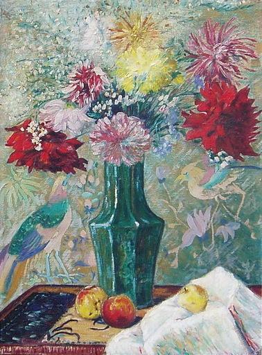 German TAIBO GONZALEZ - Pintura - AVES DEL PARAISO
