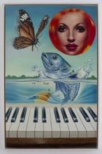 ERRÖ - Peinture - La Truite de Schubert or Sonate for Piano & Fish