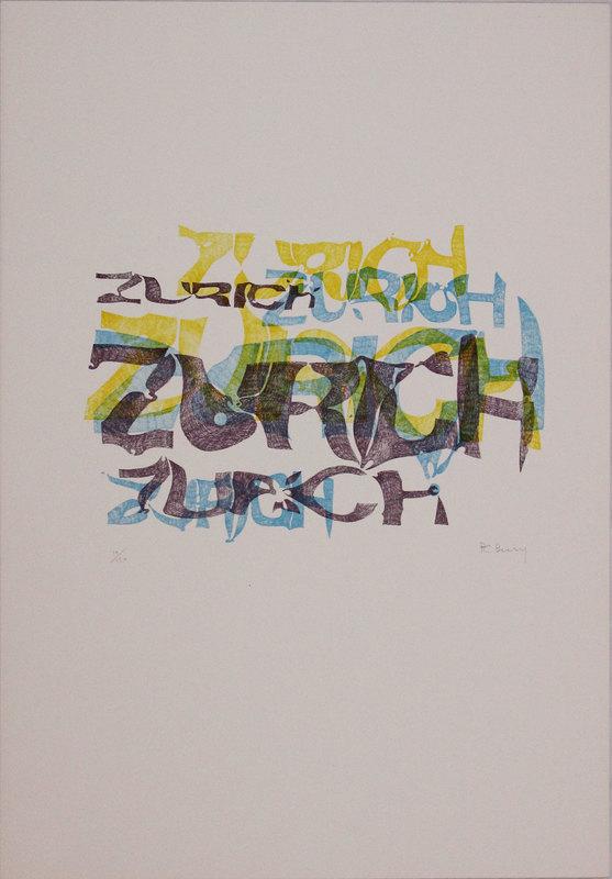 Pol BURY - Grabado - Zurich