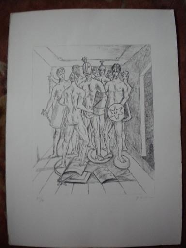 Giorgio DE CHIRICO - Stampa Multiplo - Gladiatori