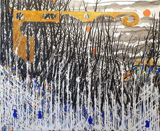 Rafael DE TOURS - Peinture - I crossed the valley of Darkness (V1-1)