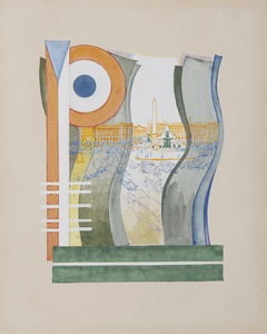 Frantisek KUPKA - Drawing-Watercolor - Place de la Concorde