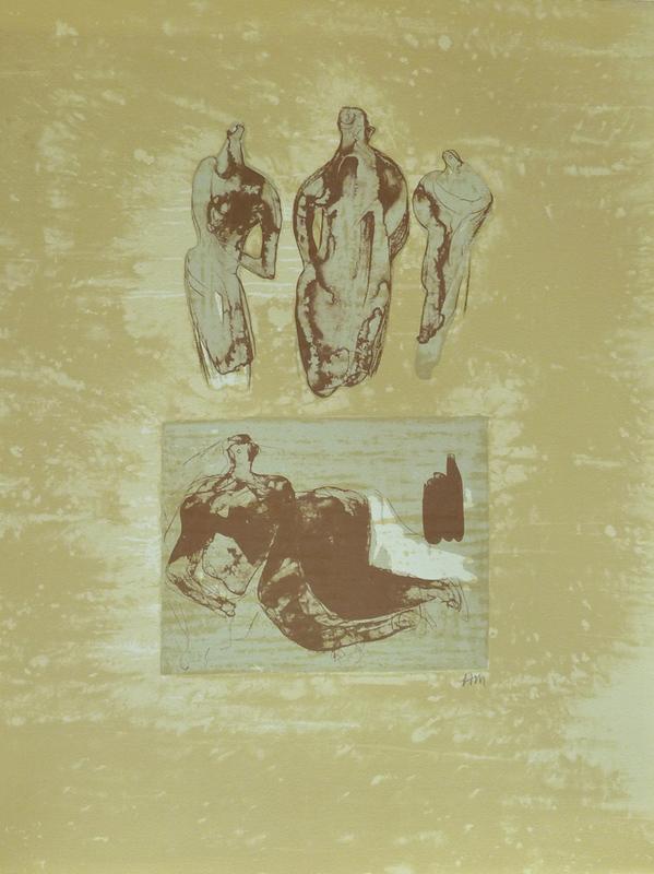 Henry MOORE - Druckgrafik-Multiple -  Ideas from a Sketchbook, from: Poetry | La Poésie