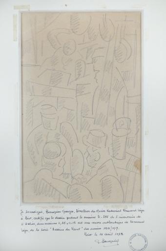 Fernand LÉGER - Drawing-Watercolor - Dessin du front