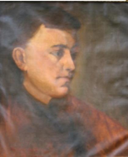 Wilhelm TRÜBNER - Peinture - Weiblicher Studienkopf