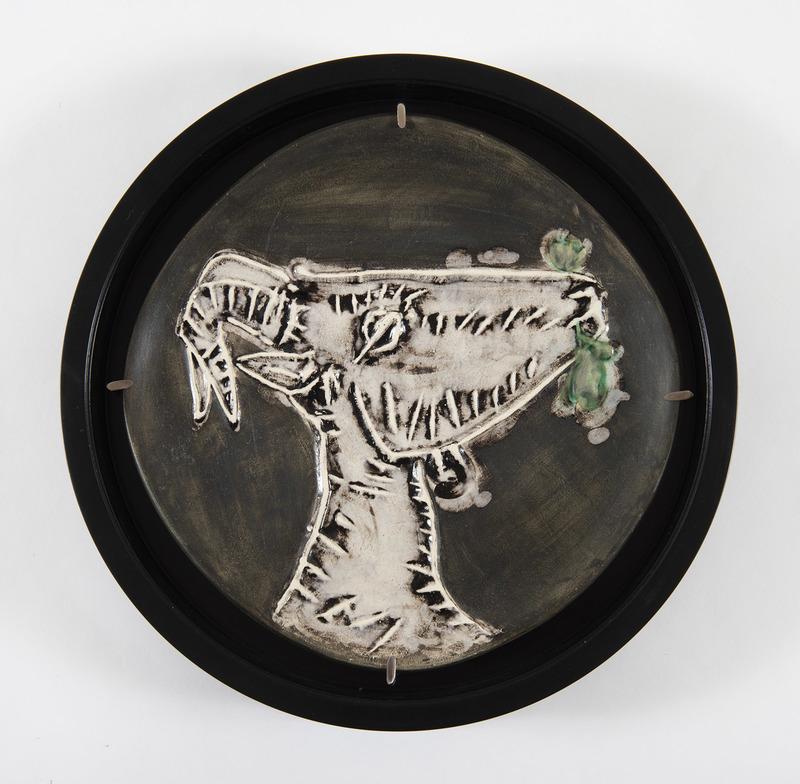 Pablo PICASSO - Ceramic - Tête de chèvre de profil, (A.R.112)