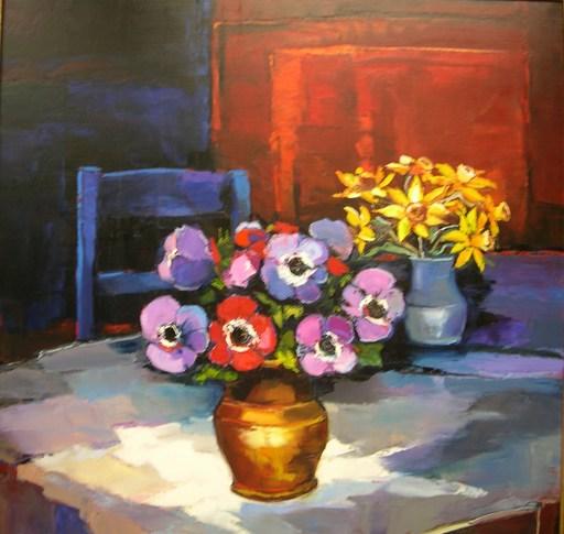 Bruno PERINO - Peinture - Anemones et Onquils