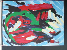 Karel APPEL - Grabado - *Flying Head Over Ocean