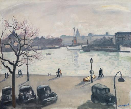 Albert MARQUET - Peinture - Quatre autos