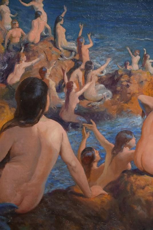 José PEDRAZA OSTOS - Painting - Mermaids and Ulises