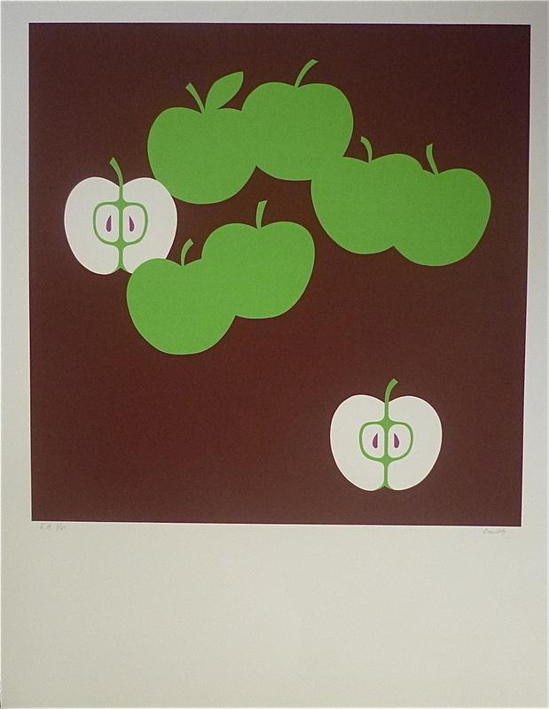 "Jean COULOT - Grabado - ""Pommes"""