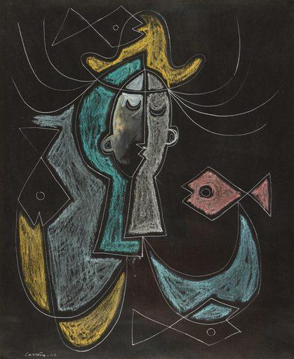Mario CARREÑO - Zeichnung Aquarell - Untitled
