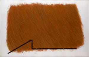 Richard SMITH - Peinture - Large Brown Drawing