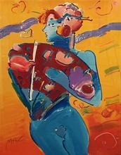Peter MAX - Grabado - NUDE FAN DANCER