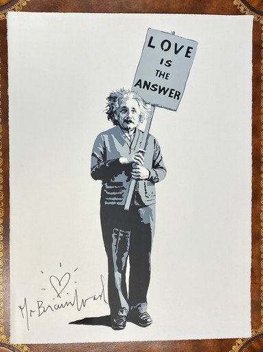 "MR BRAINWASH - Estampe-Multiple - ""Love is the Answer"""