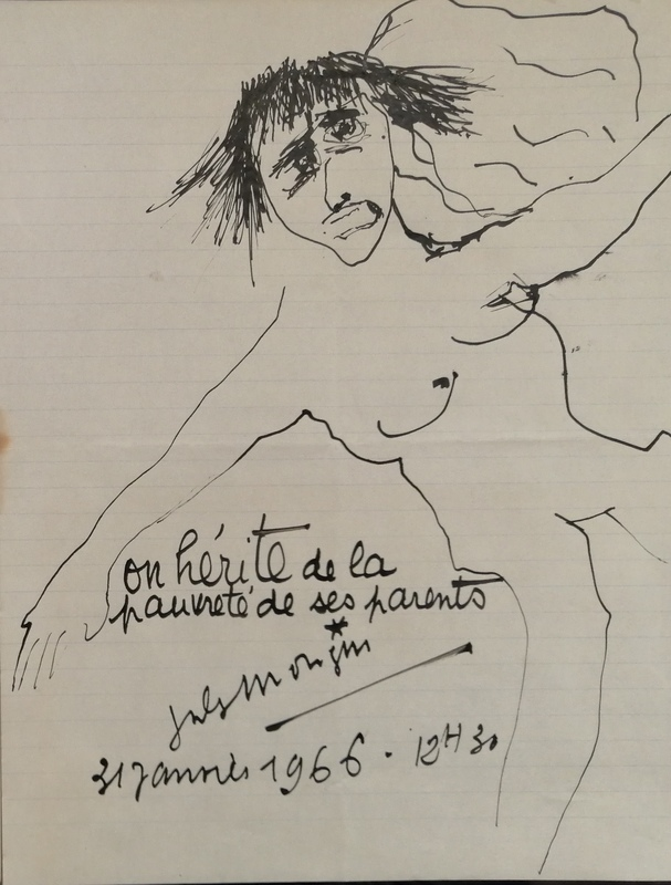 Jules MOUGIN - Dibujo Acuarela - A nos Saigneurs - On hérite