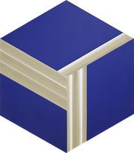 Getulio ALVIANI - Pintura - Esagono e cubo virtuale,studio