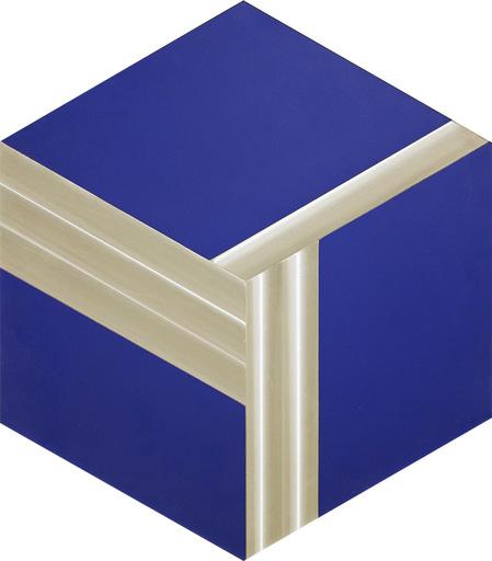 Getulio ALVIANI - Pittura - Esagono e cubo virtuale,studio