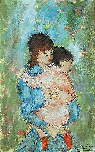 Bertoldo TAUBERT - Gemälde - Mother and Child