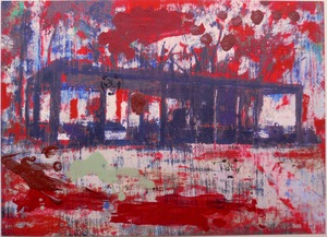 Enoc PEREZ - Stampa Multiplo - Glass House red