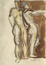 Ossip ZADKINE - Drawing-Watercolor - Personnages