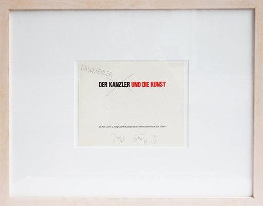 Joseph BEUYS - Print-Multiple - Der Kanzler und die Kunst – Druckfehler