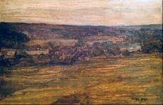 Edmond AMAN-JEAN - Pintura - Paysage 1910