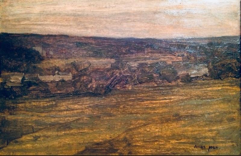 Edmond AMAN-JEAN - Painting - Paysage 1910