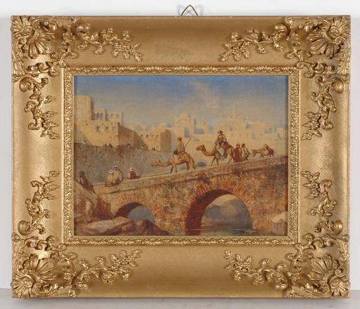 Louis TESSON - Dibujo Acuarela - Louis Tesson (1820-1870), orientalist watercolor, ca 1850