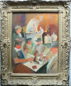 Jacques Henri GUYOT - Pintura - « Vendangeurs »